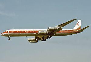 World Airways Flight 802 - Image: Douglas DC 8 63(CF), World Airways JP6538344