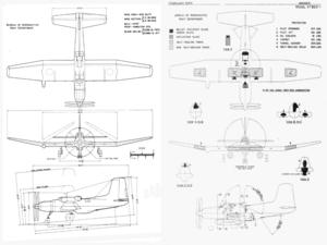 Douglas XTB2D Skypirate - Image: Douglas XTB2D Skypirate drawings