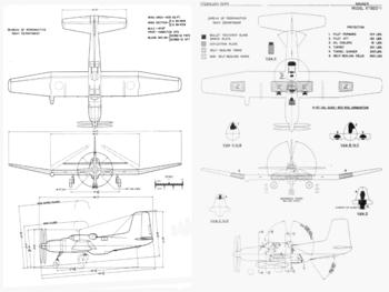 Douglas XTB2D Skypirate drawings