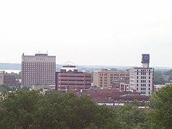 Skyline of downtown Moline