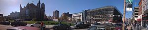 Panorama photo of downtown Scranton, Pennsylva...