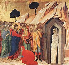 Raising of Lazarusby Duccio