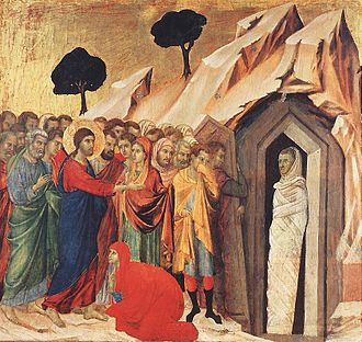 Giovanni di Paolo - Raising of Lazarus by Duccio
