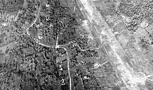 Dulag Airfield - Aerial photo of Dulag airfield, 1944.