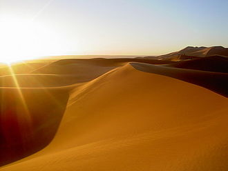 Tourism in Morocco - Sand dunes in Morocco