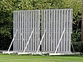 Dunmow cricket ground sight screen at Great Dunmow, Essex England 01.jpg