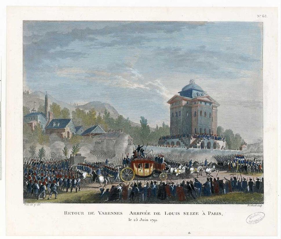 Duplessi-Bertaux – Arrivée de Louis XVI à Paris. - Archives Nationales - AE-II-3032