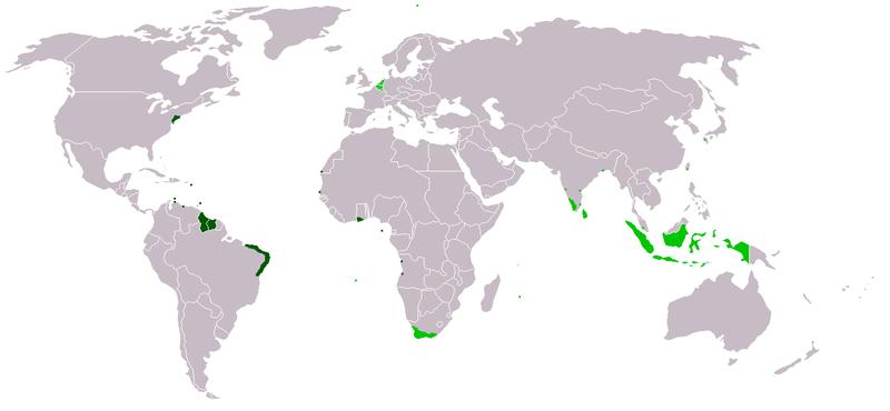Karte der Niederländischen Kolonialgebiete