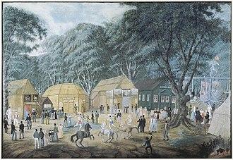 Dyrehavsbakken - Dyrehavsbakken in c. 1825