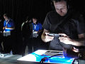 E3 2011 - Sony Media Event after party - trying out the PS VITA (5810690791).jpg
