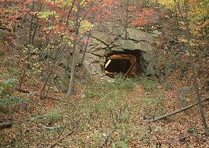 Sideling Hill -  East Broad Top Railroad Tunnel at Sideling Hill, south portal