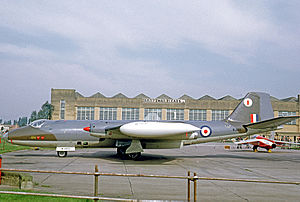 No. 58 Squadron RAF - 58 Squadron Canberra PR.7 at RAF Finningley in 1969. It wears the Squadron's Owl symbol on its fin tip.