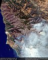 Earth from Space Soberanes Fire, Monterey County, CA, USA August 7th (28757565402).jpg