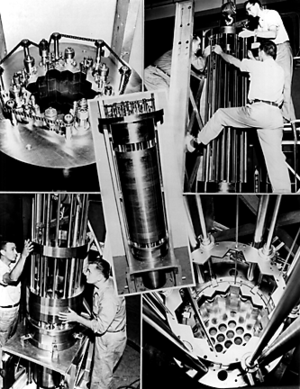 Breeder reactor - Assembly of the core of Experimental Breeder Reactor I in Idaho, United States, 1951