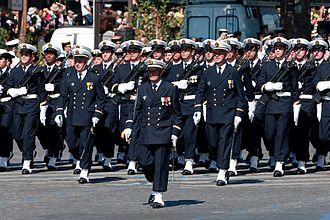 École de maistrance - The École de maistrance marching along the Champs-Élysées on Bastille Day 2008