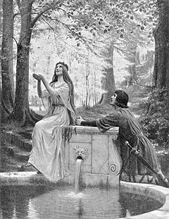 Edmund Blair Leighton ,,Pelleas and Melisande""