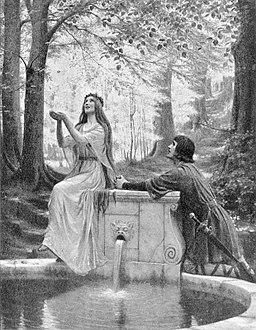 Edmund Blair Leighton - Pelleas and Melisande
