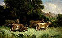 Edward Mitchell Bannister - Untitled (five cows in pasture, rooftop in background) - 1983.95.72 - Smithsonian American Art Museum.jpg