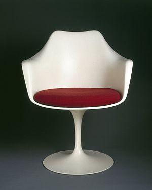 "Eero Saarinen - ""Pedestal"" Armchair and Seat Cushion, Designed 1956 Brooklyn Museum"