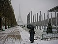 Eiffel Tower in the snow, 26 November 2005.jpg