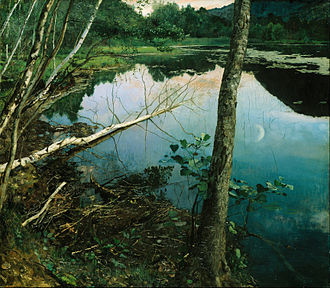 Eilif Peterssen - Summer Night (1886)