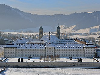 Einsiedeln Abbey - The abbey as seen from the east