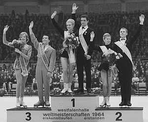 1964 World Figure Skating Championships - 1964 World Figure Skating Championships, pairs podium