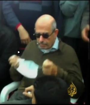 Mohamed ElBaradei - Mohammed ElBaradei during Friday of Anger