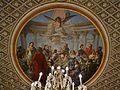 El Geni, la Glòria i l'Amor, pintura al sostre de la sala roja, palau del marqués de Dosaigües.JPG
