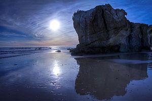 Robert H. Meyer Memorial State Beach - Sunset at El Matador Beach, in Robert H. Meyer Memorial State Beach Park, Malibu.