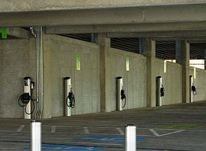 Hillsboro Intermodal Transit Facility - Electric vehicle charging stations