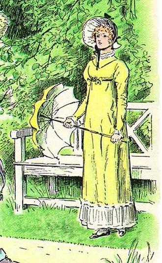Elizabeth Bennet - Elizabeth Bennet, a fictional character appearing in the novel Pride and Prejudice, depicted by C. E. Brock