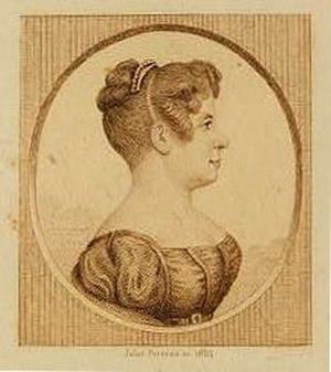 Élisa Garnerin - 1854 print of the balloonist