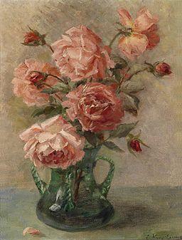 Elise Nees von Esenbeck Rosen in Vase