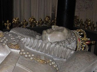 Burials and memorials in Westminster Abbey - Elizabeth I of England as shown on her tomb