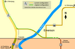 Emerson highway map.png