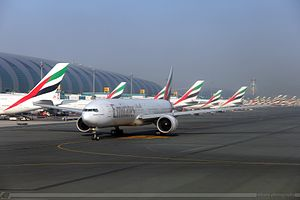 Ultimate Airport Dubai - Emirates aircraft at Dubai International Airport, the setting for the program.