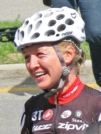 Emma Pooley - Pooley after winning the 2009 Montreal World Cup