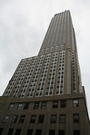 The Empire State Building in New York, view fr...