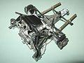 Engine, transmission, suspension, exhaust, intercooler, from above, left. (7996564698).jpg
