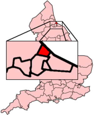Hartlepool by-election, 2004 - Location of Hartlepool constituency