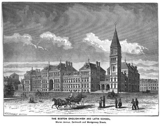 The English High School - Image: English School Kings Boston 1881