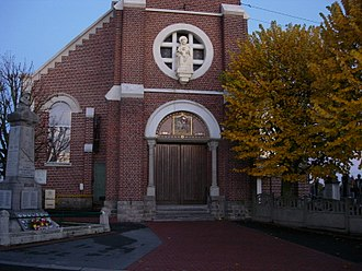 Ennetières-en-Weppes - Image: Ennetières en Weppes Eglise (1)