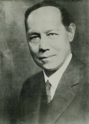 Carlos Eugenio Restrepo - Restrepo's Minister of Foreign Relations and future president, Enrique Olaya.