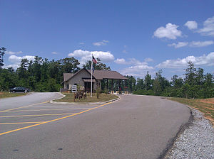 Bogue Chitto State Park - An entrance area welcomes guests to the park.