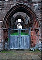 Entrance at Sweetheart Abbey - geograph.org.uk - 609973.jpg