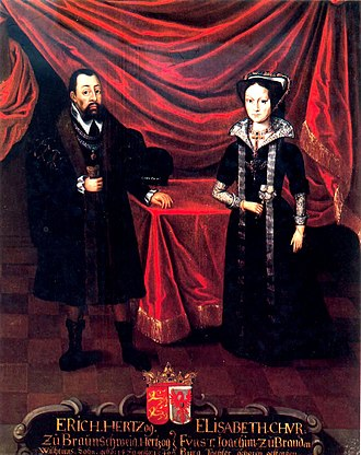 Eric I, Duke of Brunswick-Lüneburg - Eric with his second wife Elisabeth ca. 1530