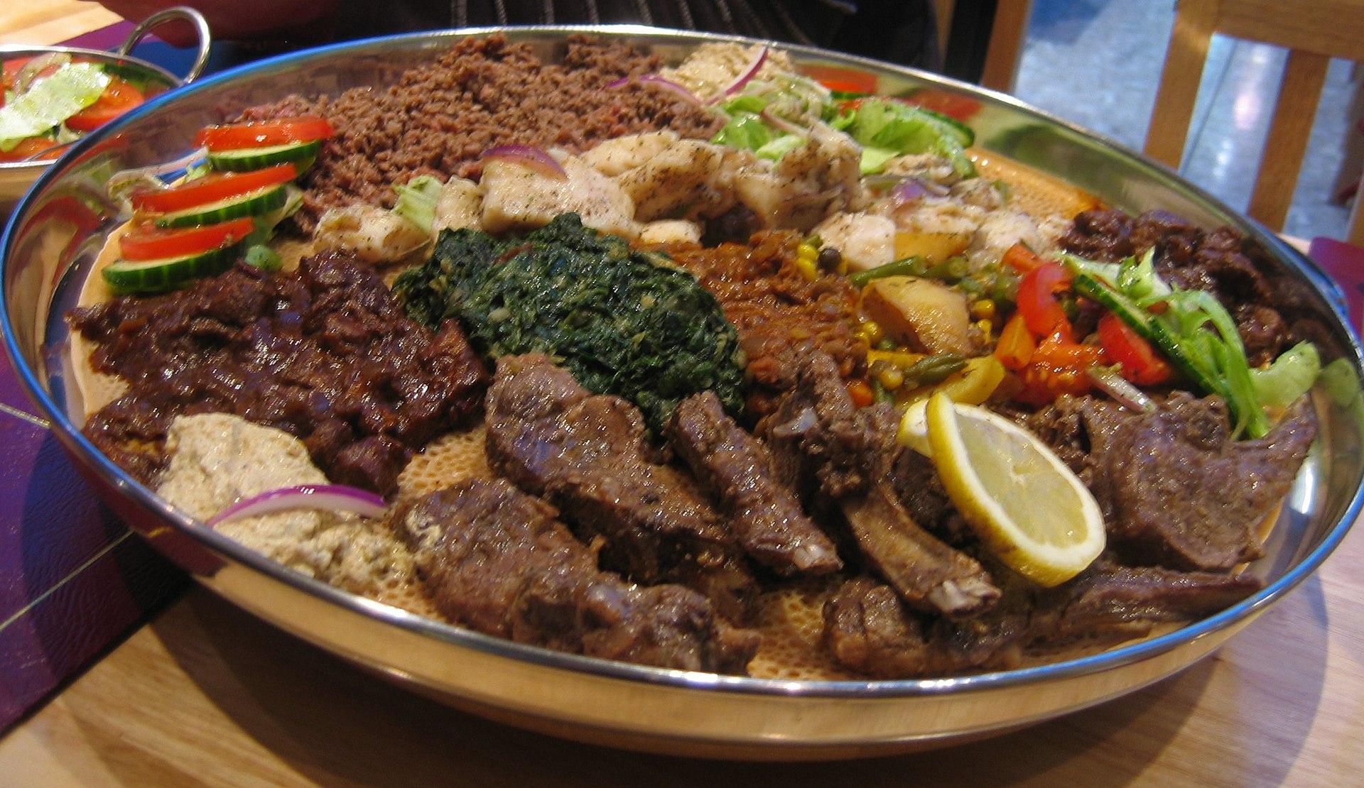 Eritrean platter at London restaurant.jpg
