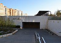 Estació d'Aiora del Metro de València, exterior.JPG