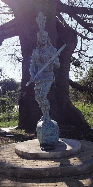 """Taíno - Statue of Agüeybaná II, """"El Bravo"""", in Ponce, Puerto Rico"""